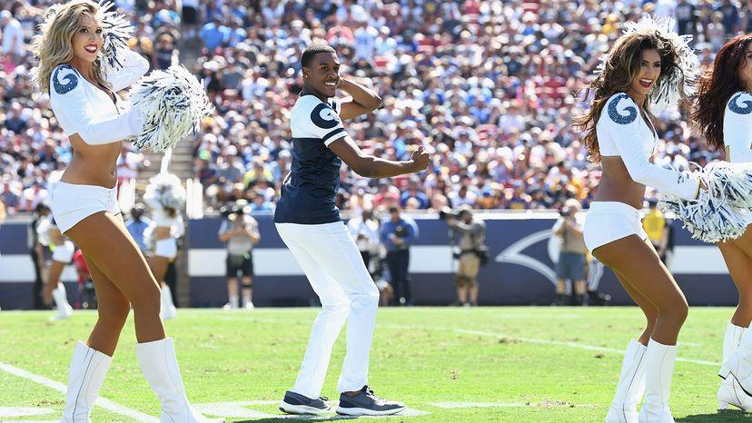 Los Angeles Rams cheerleader Quinton Peron