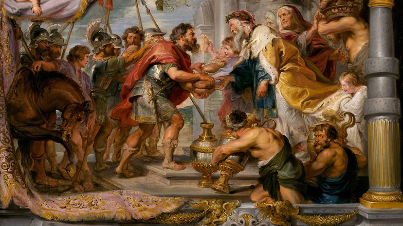 """""""The Meeting of Abraham and Melchizedek,"""" Rubens"""