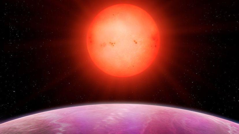 Sunrise on planet NGTS-1b