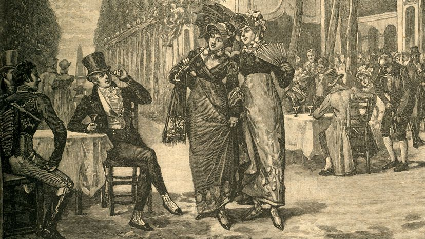 Beaus and belles of the Regency period