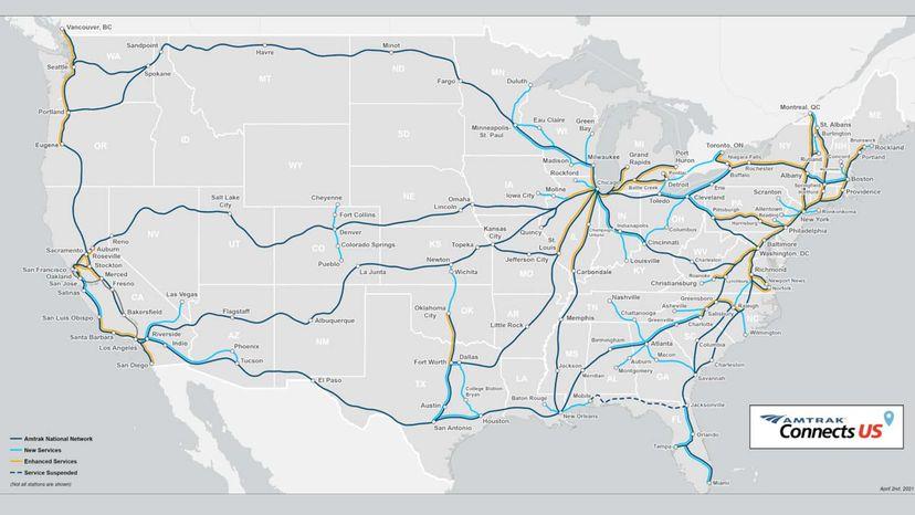 Amtrak 2035 map