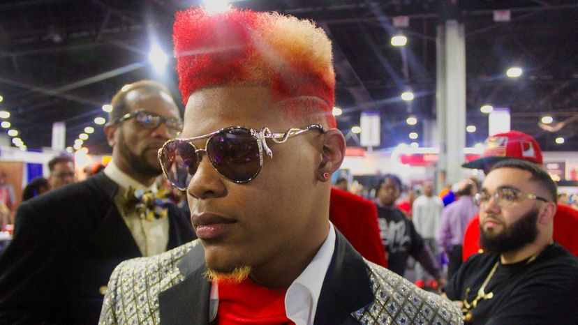 Model at the 2018 Bronner Bros. hair show