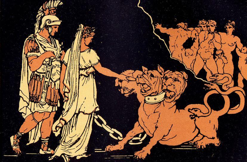 Cerberus the three-headed dog