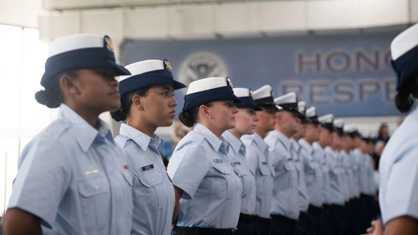 Coast Guard recruits boot camp
