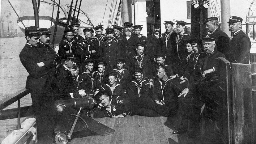 crew of a Coast Guard revenue cutter, circa 1900