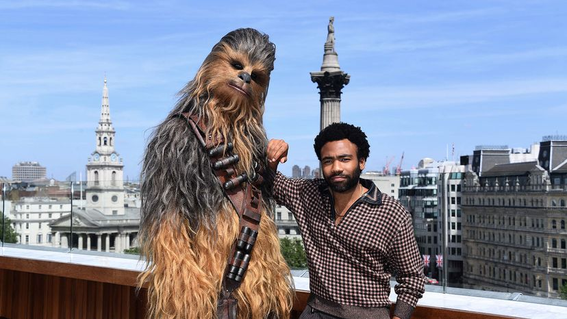 Donald Glover and Chewbacca