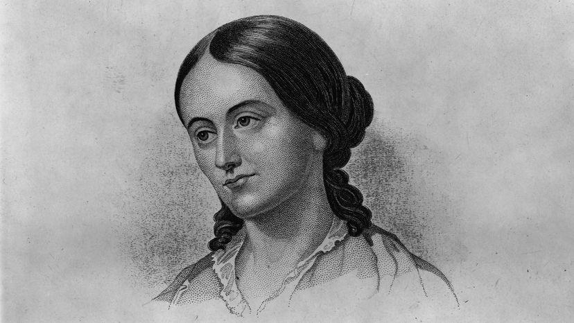 Margaret Fuller Portrait Drawing in Black and White