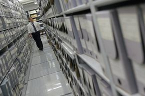 Here, archivists prepare government documents for access by the general public. It's because of the Freedom of Information Act that we have access to many such documents.