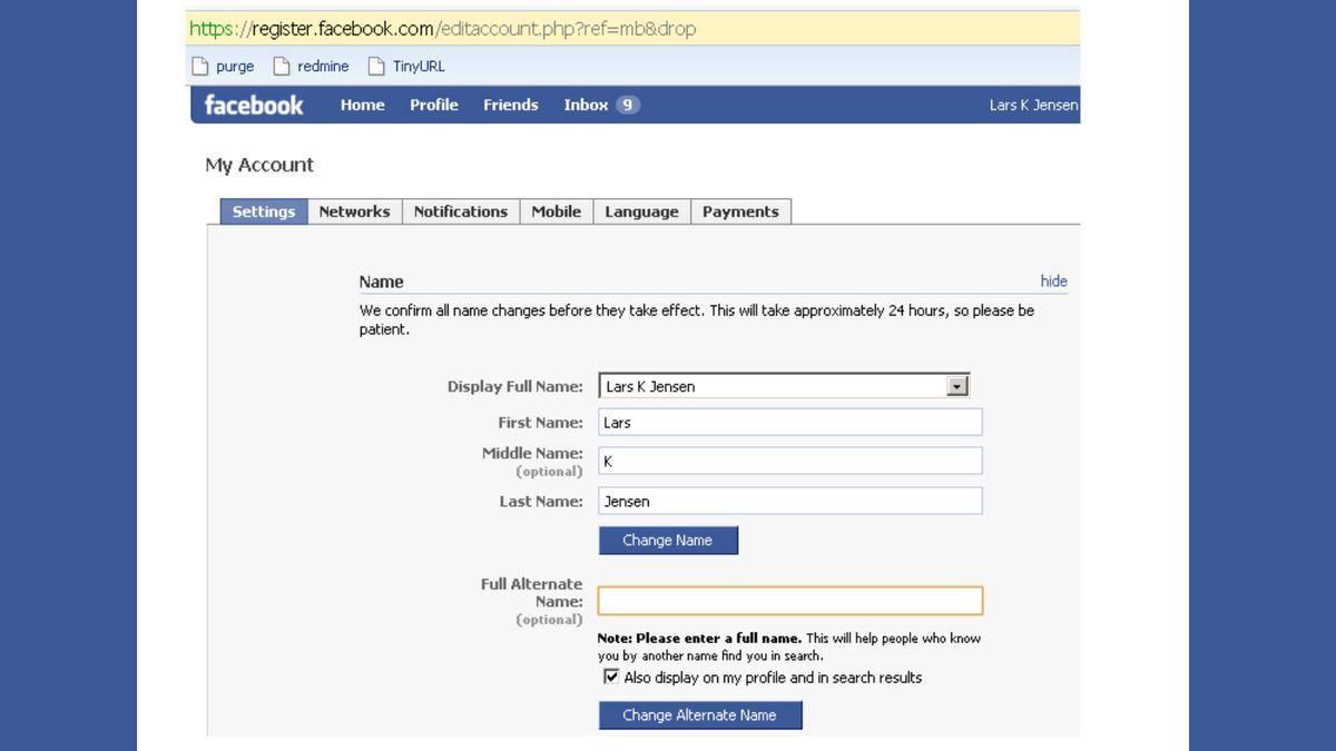 फेसबुक पर अपना नाम कैसे बदलें