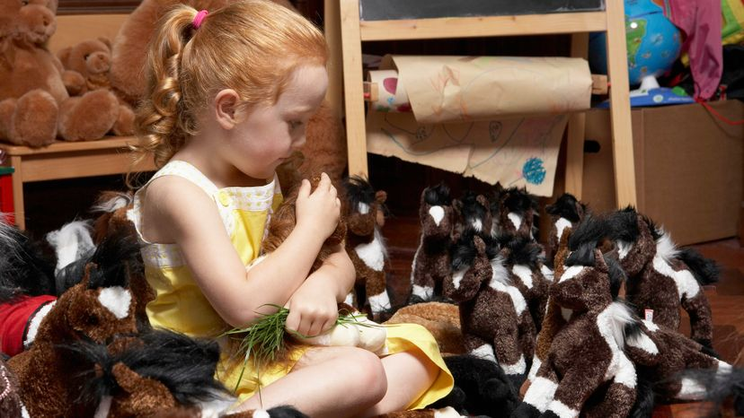 Objects, like stuffed horses and teddy bears, can also be considered imaginary friends, too. Maarten Wouters/Getty Images
