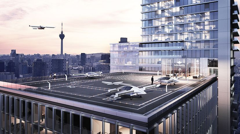 rooftop landing pad for Lilium jets