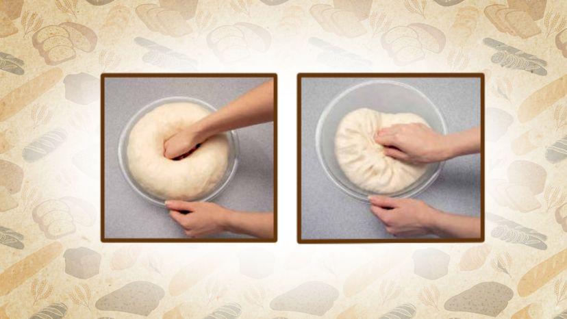 punching down dough