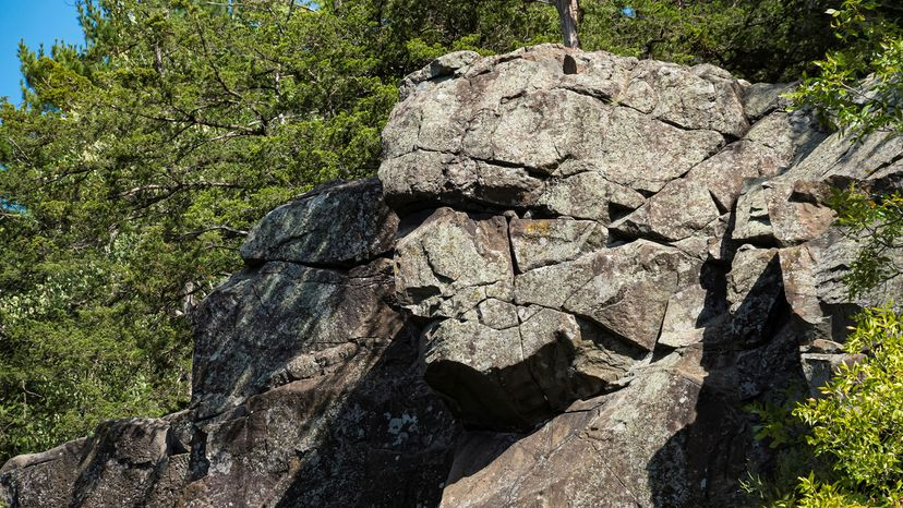 rock formation along the Dalles of the St. Croix River
