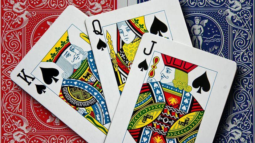 king, queen, jack of spades