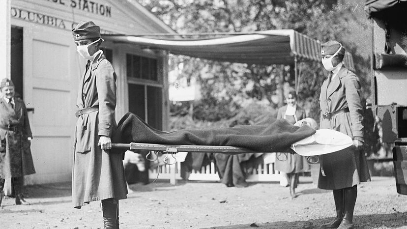 Red Cross demonstration, 1918