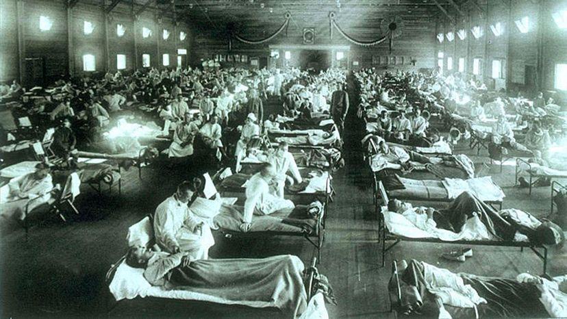 Emergency military hospital, Camp Funston, Kansas, Spanish flu