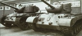The M-26 Pershing Heavy Tank (with an M-46 Patton to the left) carried a crew of five.