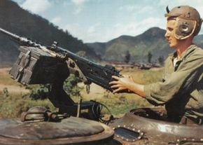 The M-26 Pershing carried a .50 caliber Browning machine gun at the loader's hatch.