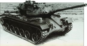 The M-47 Patton Medium Tank, here updated with M-60 components, was one of three tanks to carry the name Patton. The others were the M-46 and M-48.