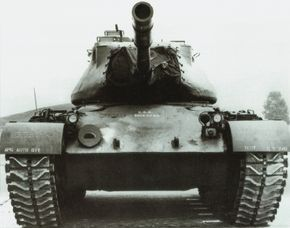 The M-47 Patton Medium Tank and its immediate predecessor, the M-46, were developed from the M-26 Pershing Heavy Tank.