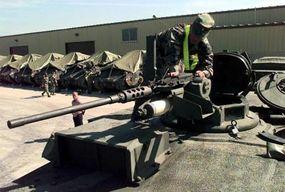 The M1 tank's .50-caliber machine gun