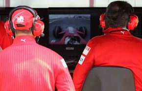 Auto racing engineers use machine-to-machine communications to monitor a car's performance.