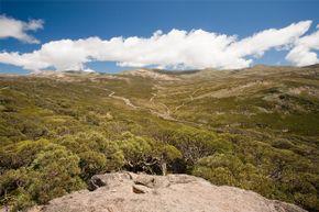 A summertime view of Mount Kosciuszko, Australia's highest peak.