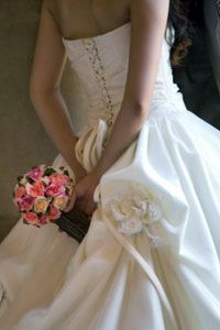Strapless styles are held up by a tight fit around the waist.