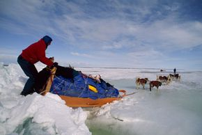 Mushers have to be ready to take on all kinds of frozen terrain, such as the frozen Great Slave Lake in Canada's Northwest Territories.