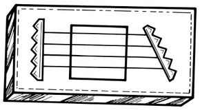 Rubber band zither