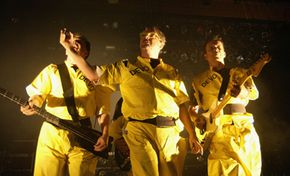 The new-wave band, Devo, peddled their own 45 records before finding a music distributor.