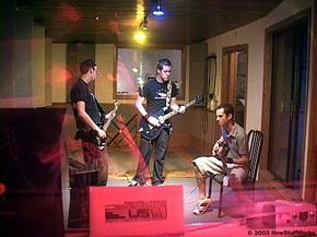 .nicofiends. during a recording session at Osceola Recording Studios.