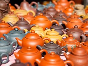 Besides being practical, teapots can also be very pretty.