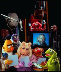 """The cast rehearses for """"The Muppets Celebrate Jim Henson"""" in 1990."""
