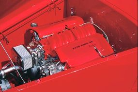 Muroc roadsters are equipped with Corvette 350-cid LS1 engines and 4L60E automatic transmissions.