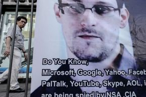 When former NSA contractor Edward Snowden, shown here on a banner in Hong Kong, leaked details of government surveillance programs to the press, it ignited a firestorm of controversy and made many people start thinking seriously about their online data.