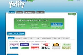 Yotify is one of many sites that can generate alerts to notify you when information you'd like to track appears online.