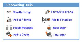 """If Ellie wants to become friends with Julia, she'll click """"Add to Friends"""" on Julia's profile page."""