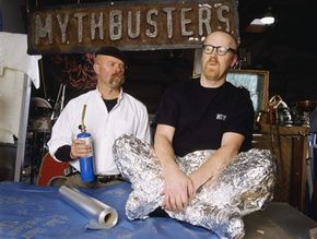 """Mythbusters"" co-hosts Jamie Hyneman and Adam Savage. See more TV show pictures."