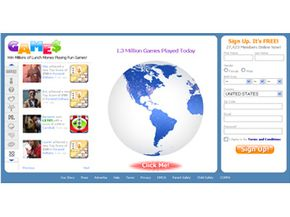 The login page for myYearbook has an interactive globe that shows recent member activity. See more pictures of popular web sites.