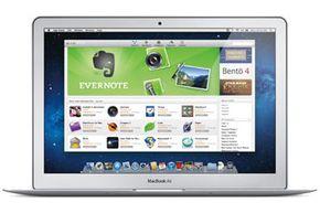 The Mac App Store as displayed on a MacBook Air.