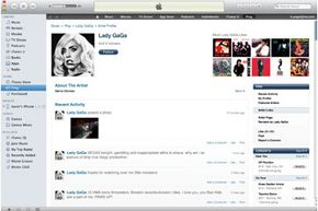 An Artist Profile page in the iTunes Store, one of the predecessors of the Mac App Store.