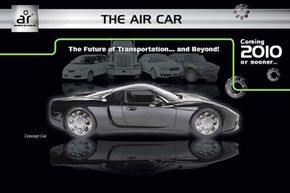 The images that circulated with the press releases were of the GTM Supercar available from kit car manufacturer Factory Five. The magnetic air car never made it to the prototype stage. Want to learn more? Check out these concept car pictures.