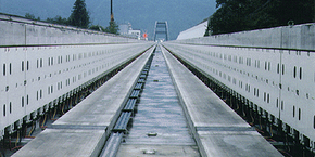 Above is an image of the guideway for the Yamanashi maglev test line in Japan.