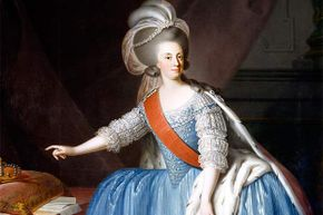 This portrait of Maria I of Portugal was done by an unknown 18th century artist.