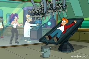 Professor Farnsworth on any given weekday