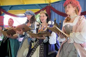 Entertainment plays a big part in any madrigal dinner, and singing, comedy and drama are all common.