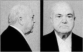 """Anthony """"Fat Tony"""" Salerno, a boss of the Genovese family, in an FBI mugshot taken after his arrest on racketeering charges"""