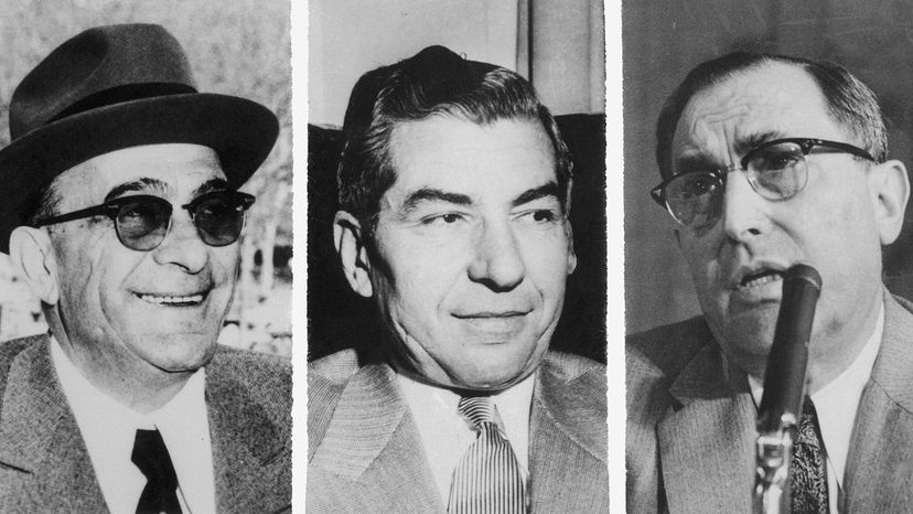 """Vito Genovese, Charles """"Lucky Luciano"""" Lucania and Joseph Profaci"""