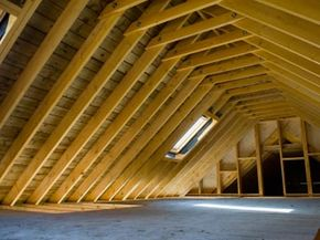 With a little elbow grease, this attic could be a home office, game room or even a guest suite.
